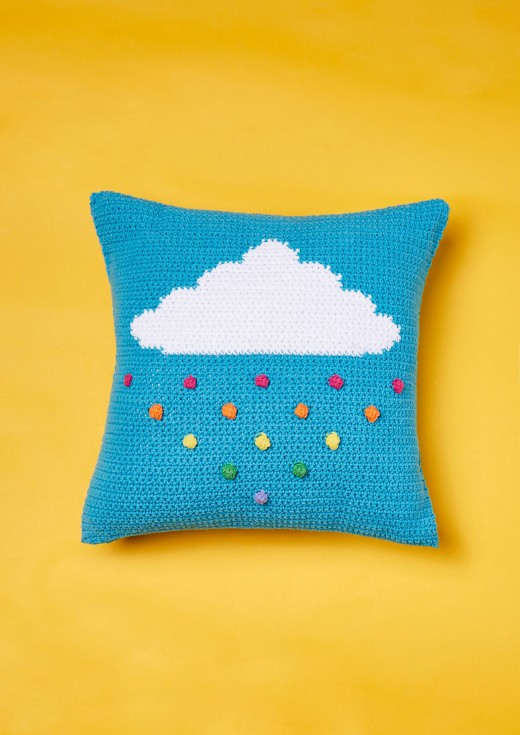 rainbow drop cushion